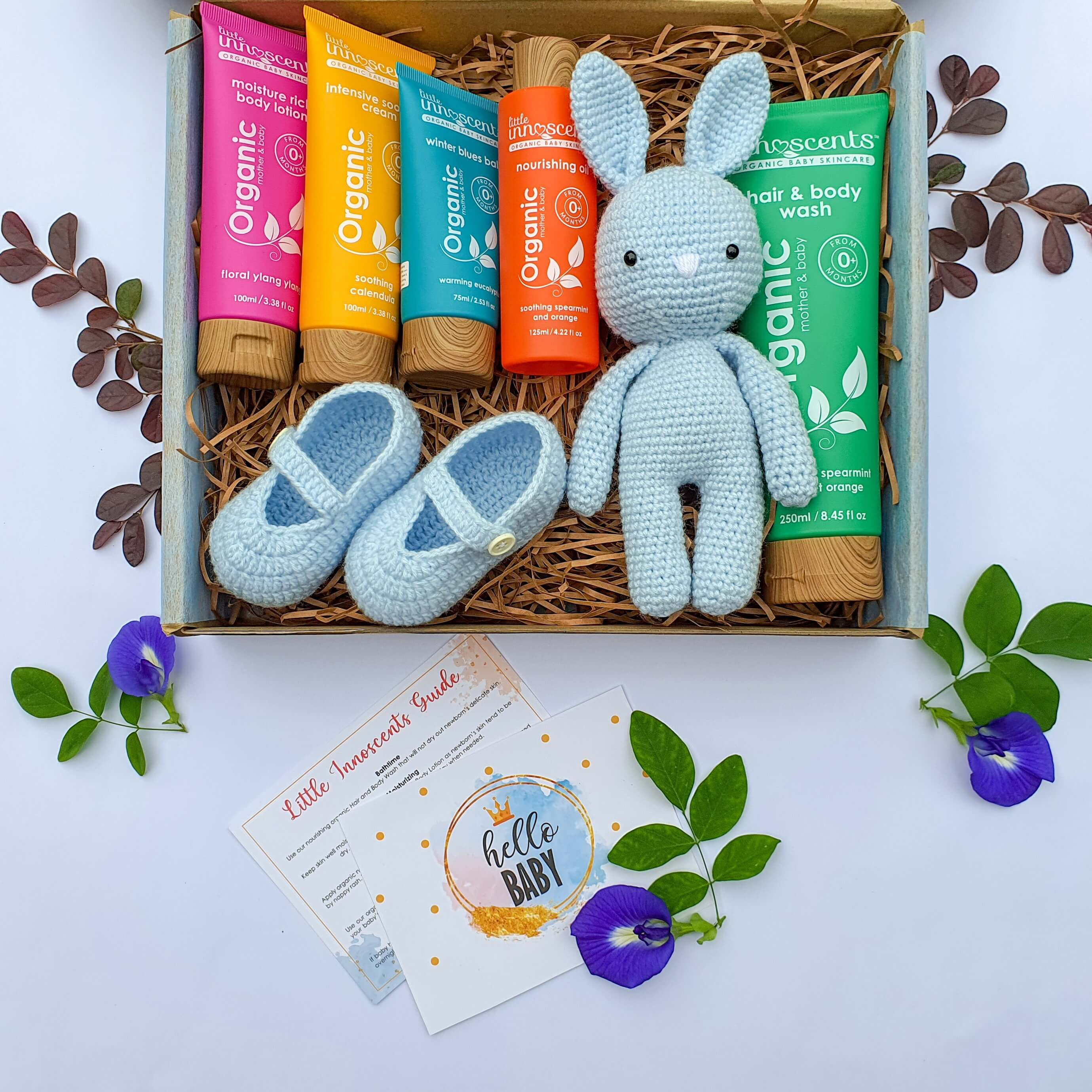 little innoscents malaysia welcome baby organic premium gift box baby blue package